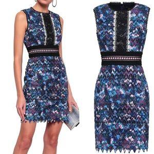 SALONI Trudi lace mini dress Blue 0
